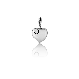 Aotearoa's Heart, silver link charm, from Evolve Inspired Jewellery