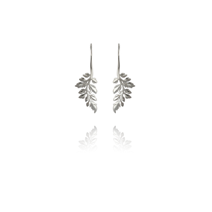 Treasured Fern drop earrings made of sterling silver, from Evolve Inspired Jewellery