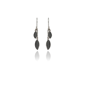 Sterling silver Love Leaf Drops, from Evolve Inspired Jewellery