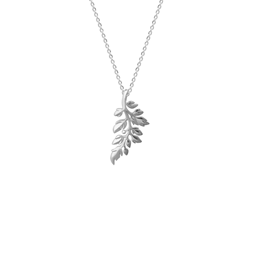 Treasured Fern necklace made of sterling silver, from Evolve Inspired Jewellery