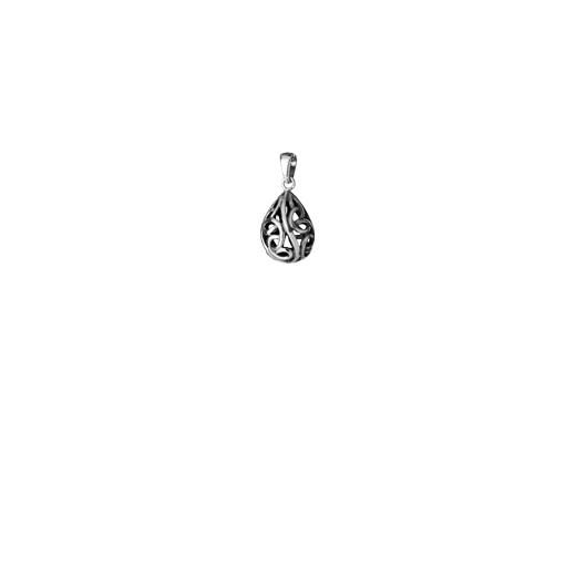 Sterling silver necklace pendant with Maori design, from Evolve Inspired Jewellery