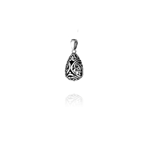 Sterling silver necklace pendant featuring koru nz jewellery design, from Evolve Inspired Jewellery