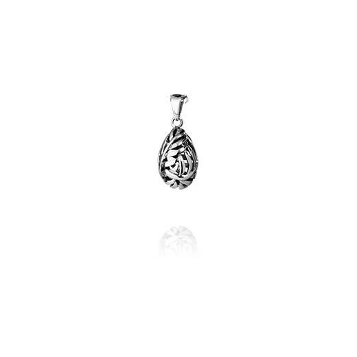 Sterling silver necklace pendant featuring a fern design, from Evolve Inspired Jewellery