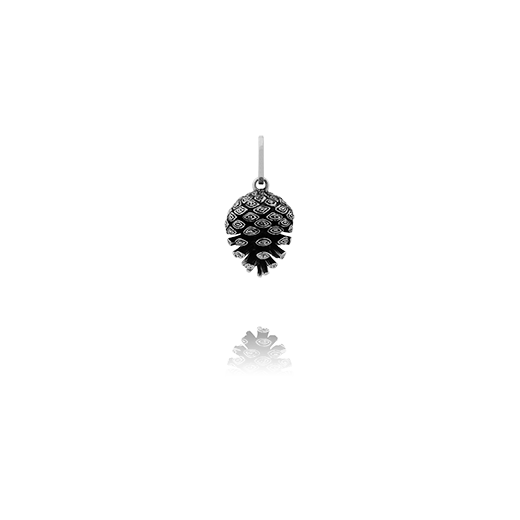 Sterling silver pinecone design necklace pendant, meaning independence and intuition, from Evolve Inspired Jewellery