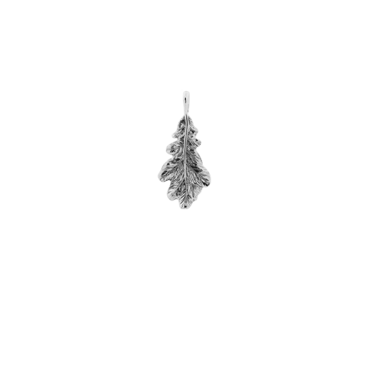 Sterling silver leaf design necklace pendant, meaning resilience and potential, from Evolve Inspired Jewellery
