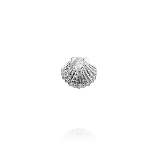 Sterling silver scallop design necklace pendant, meaning direction, from Evolve Inspired Jewellery