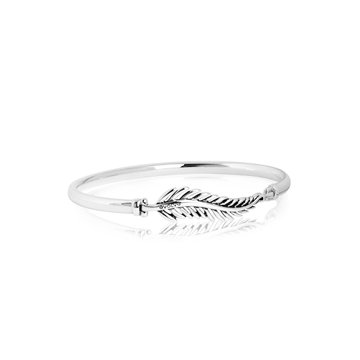 Sterling silver Forever Fern Bangle, from Evolve Inspired Jewellery