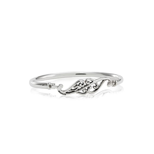 Sterling silver Soulmates Bangle, size 19cm, from Evolve Inspired Jewellery