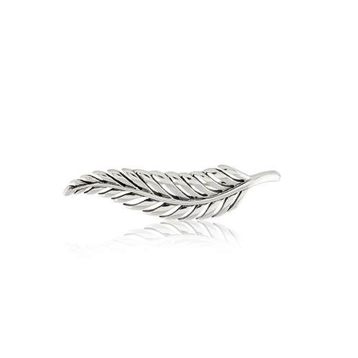 Sterling silver fern design brooch, from Evolve Inspired Jewellery