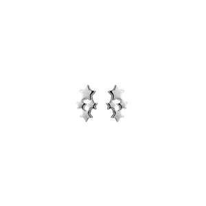 Silver stud earrings in a star design from Evolve Inspired Jewellery