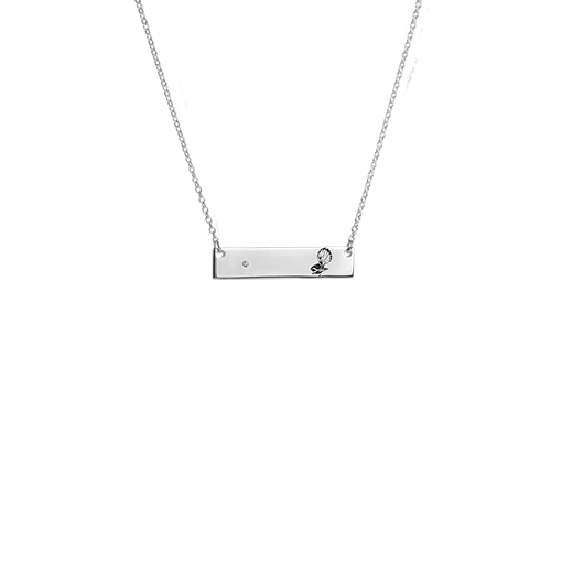Sterling silver fantail design bar necklace, from Evolve Inspired Jewellery