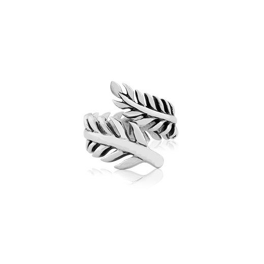 Sterling silver ring in a fern design, from Evolve Inspired Jewellery