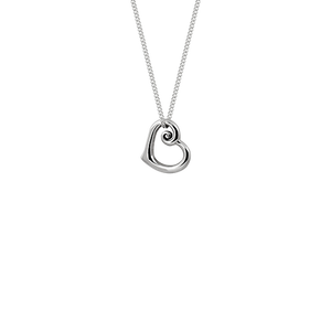 Sterling silver heart shapped necklace, from Evolve Inspired Jewellery