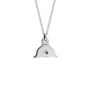 Sterling silver shepherds whistle design necklace, from Evolve Inspired Jewellery