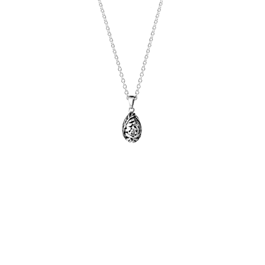 Sterling silver necklace featuring a fern design, from Evolve Inspired Jewellery