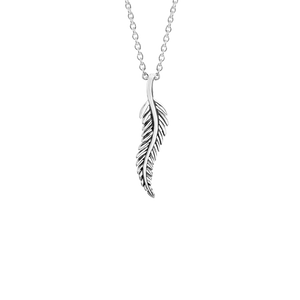 Sterling silver fern design necklace, from Evolve Inspired Jewellery