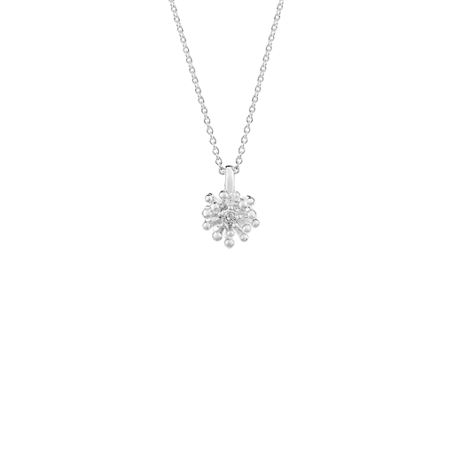 Sterling silver blossom design necklace, meaning growth, from Evolve Inspired Jewellery