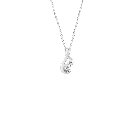 Sterling silver fern design necklace, meaning nurture, from Evolve Inspired Jewellery