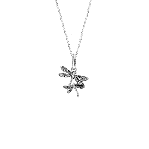 Sterling silver dragonfly design necklace, meaning new beginnings, from Evolve Inspired Jewellery