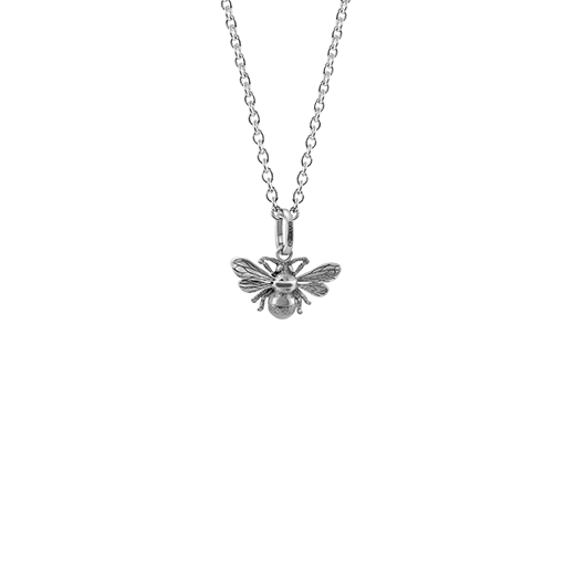 Sterling silver bumble bee design necklace, meaning diligent, from Evolve Inspired Jewellery