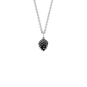 Sterling silver pinecone design necklace, meaning independence and intuition, from Evolve Inspired Jewellery