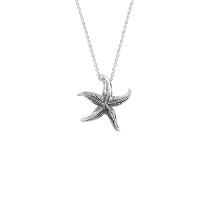 Sterling silver starfish design necklace, meaning love, from Evolve Inspired Jewellery