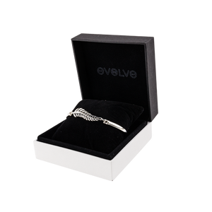 Large black and white jewellery gift box from Evolve Inspired Jewellery.