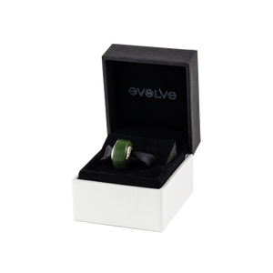 Small black and white jewellery gift box from Evolve Inspired Jewellery.