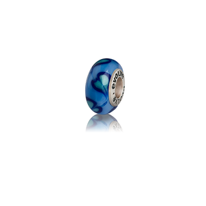 Desire, a blue Murano glass bead charm from Evolve Inspired Jewellery