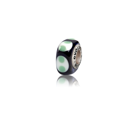Milford Sound, Murano glass bead charm from Evolve Inspired Jewellery