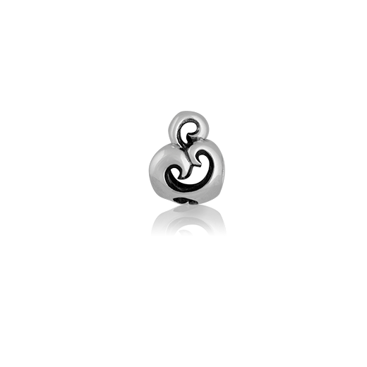 Manaia, silver bead charm meaning guardian from Evolve Inspired Jewellery