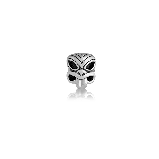 Pacific Mask, silver bead charm from Evolve Inspired Jewellery