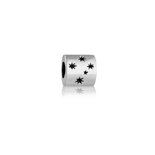 Southern Cross, silver bead charm from Evolve Inspired Jewellery