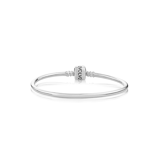 Sterling silver Evolve Classic Charm Bangle, from Evolve Inspired Jewellery