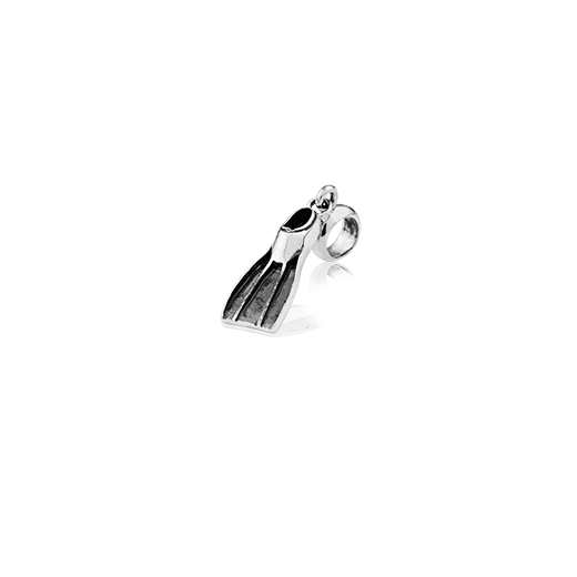 Diving Fin, silver pendant charm from Evolve Inspired Jewellery