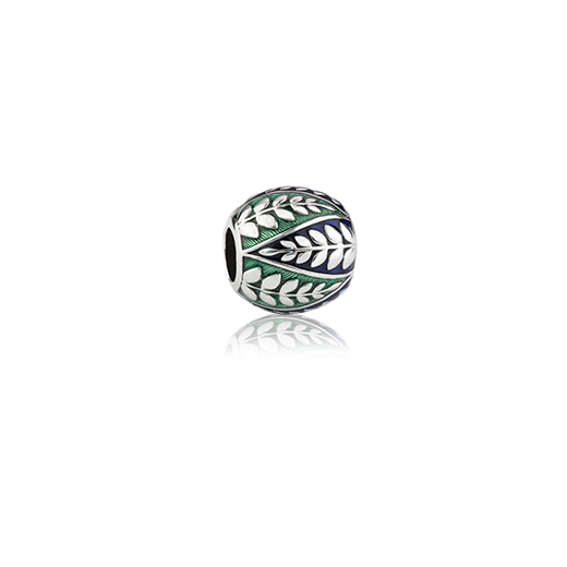 Coastal Fern, enamel bead charm meaning pride from Evolve Inspired Jewellery