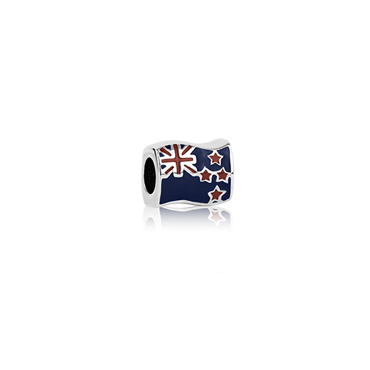 NZ Flag, enamel bead charm from Evolve Inspired Jewellery