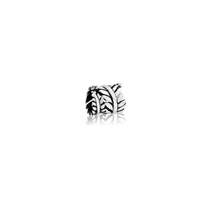 Eternal Fern, silver focal bead charm from Evolve Inspired Jewellery