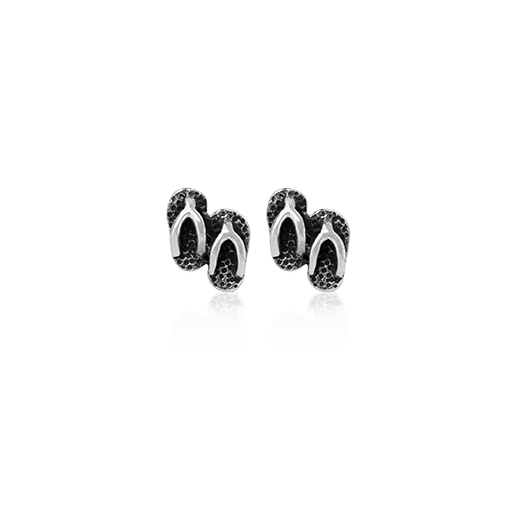 Jandal Studs, silver stud earrings meaning kiwi freedom from Evolve Inspired Jewellery