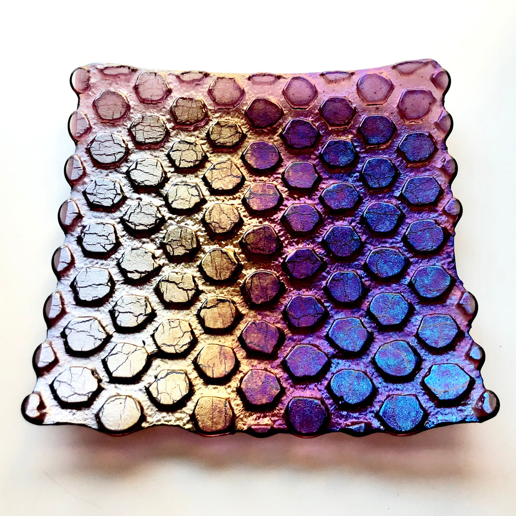 Iridescent Hexagon Plate