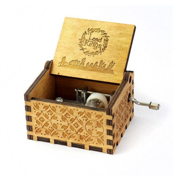 Carved Wood Music Box - AccessorieSpirit