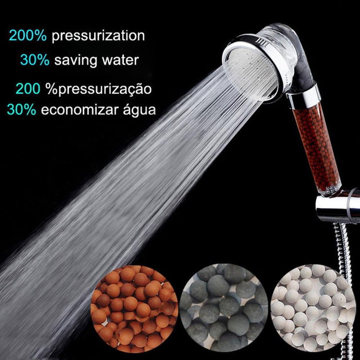 Pressure Boost Water Saving Filter Shower Head - AccessorieSpirit