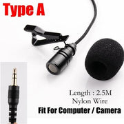 Vlogger\Youtuber Microphone 3.5mm Lavalier 2.5m Omnidirectional - AccessorieSpirit