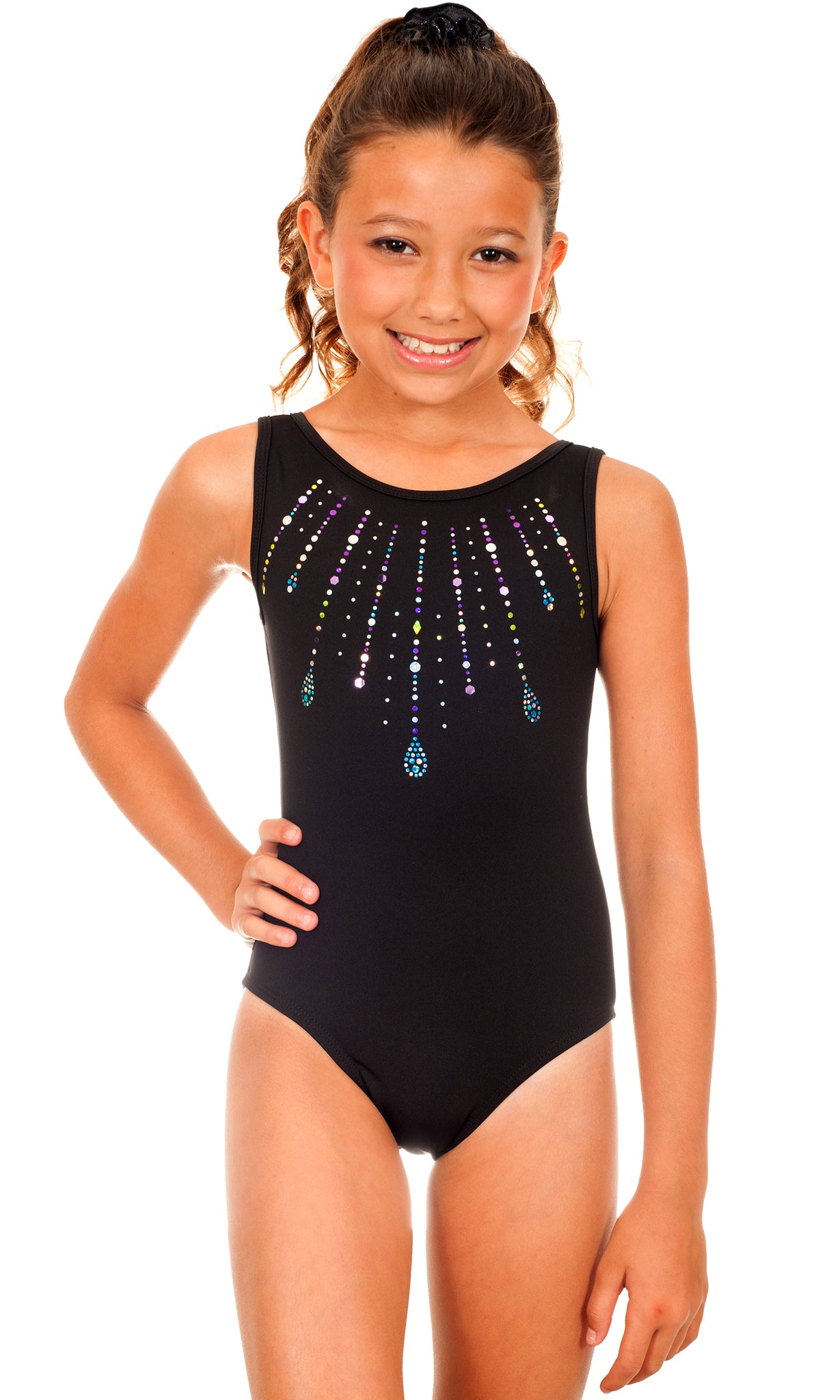 Simone Jewels Applique Leotard