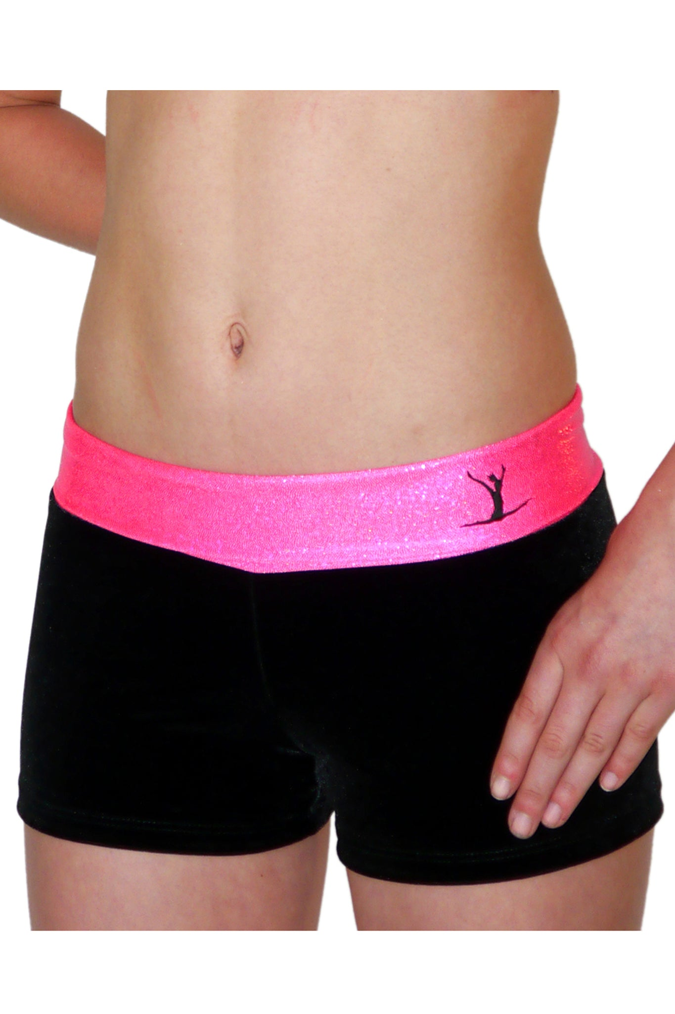 Gymstar Pink Sparkle Hipster Shorts