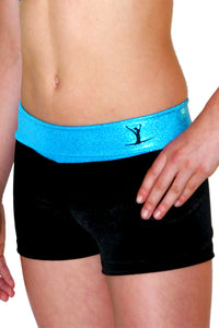 Gymstar Turquoise Hipster Shorts