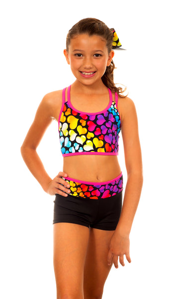 Black Love Mee Sports Bra/Hipster Set