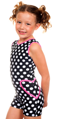 Ryah Black Dots Unitard