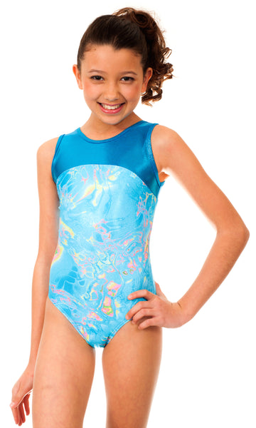 Makenna Blue Tie Dye Leotard