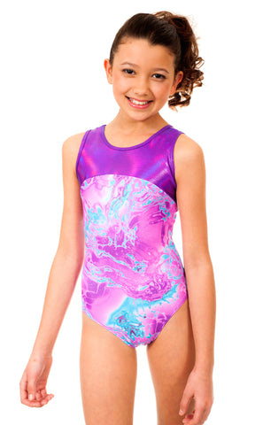 Makenna Purple Tie Dye Leotard